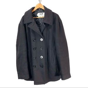Schott NYC wool pea coat size Large